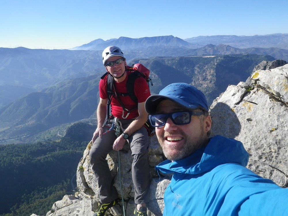 At the top of Rogelio, Escalera Arabe, with Jon Chamberlain