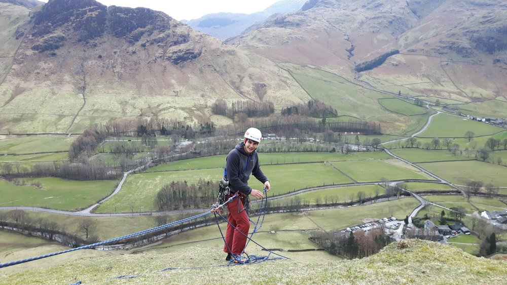 Single Pitch Award course in the beautiful Langdale valley
