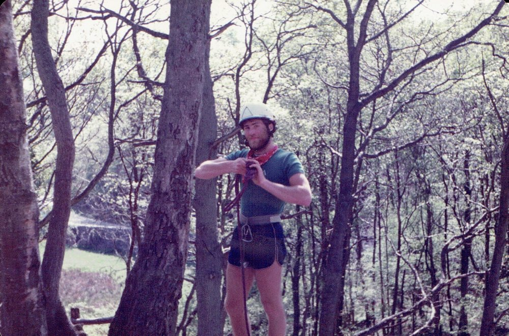 Running a climbing session at TDM crag, YMCA Lakeside, in 1984
