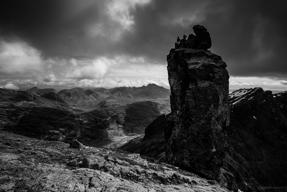 The Inaccessible Pinnacle, Cuillins of Skye. Photo courtesy of Jordan Manley