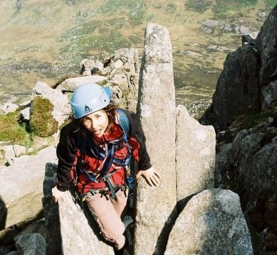 First mountain route on Tryfan, aged 18