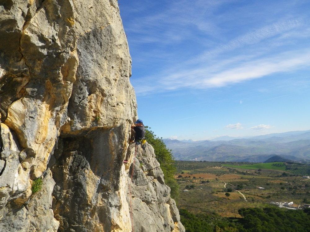 January: climbing at El Chorro, Spain