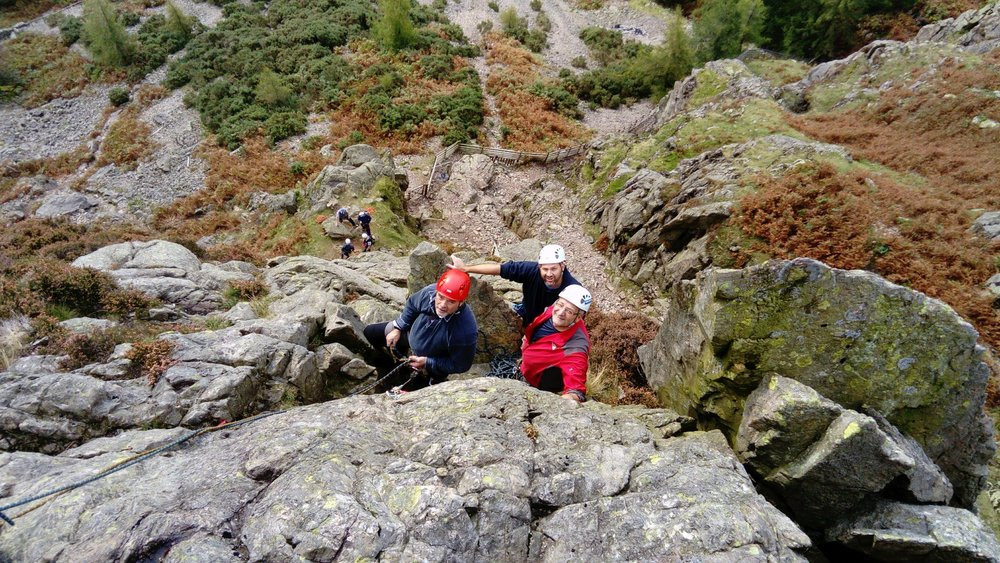 September: rock climbing in the Lake District