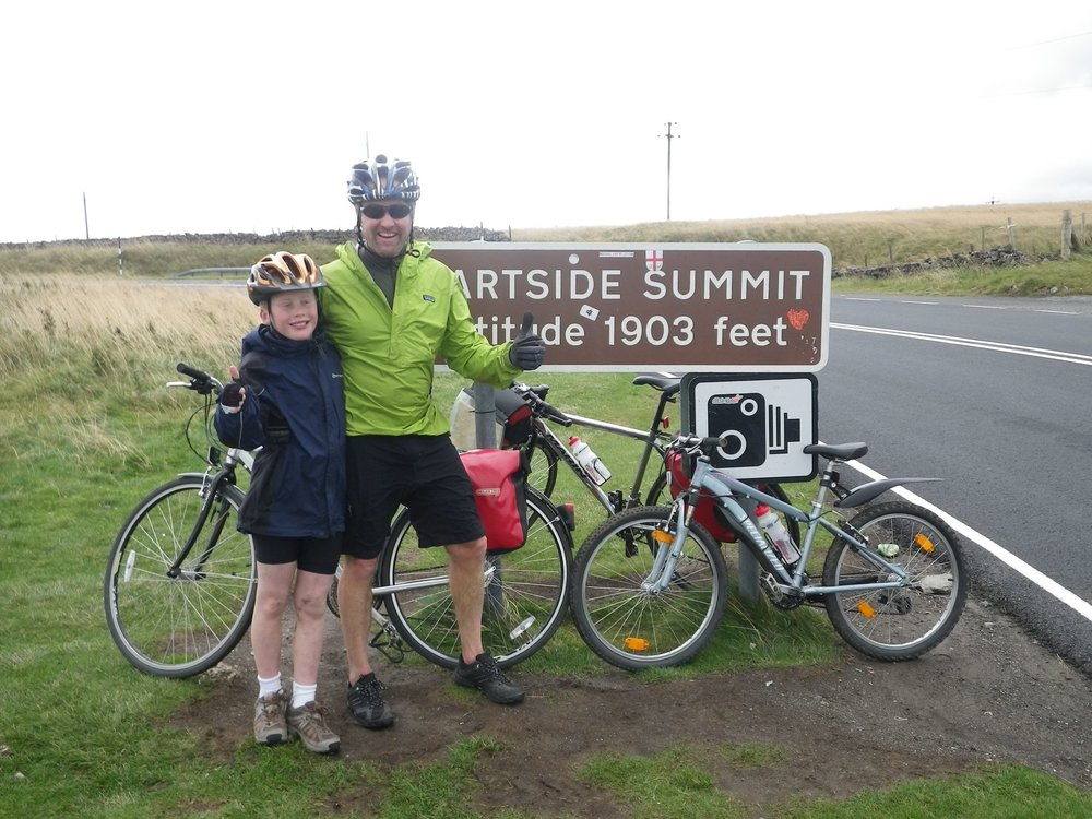 Chris and Sam on our family C2C trip in 2011