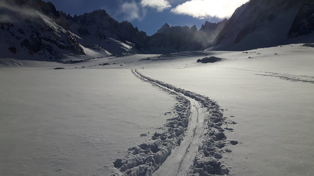 Ski touring in the Chamonix area, February 2018