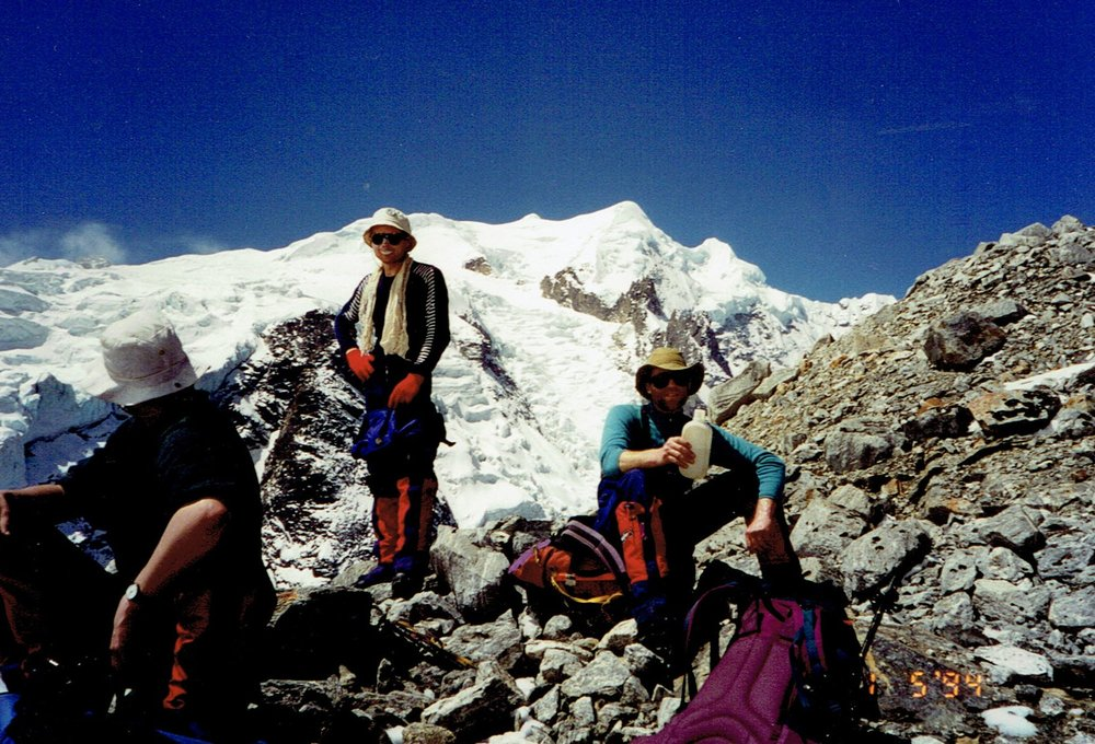 Chris working in Nepal, May 1994