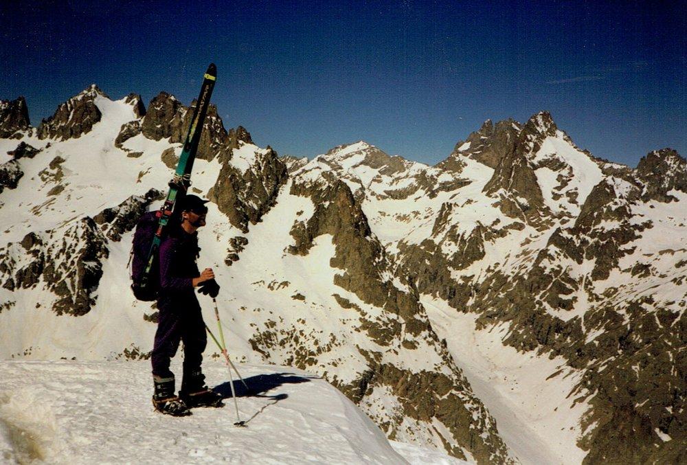 Chris ski touring in France c.1998