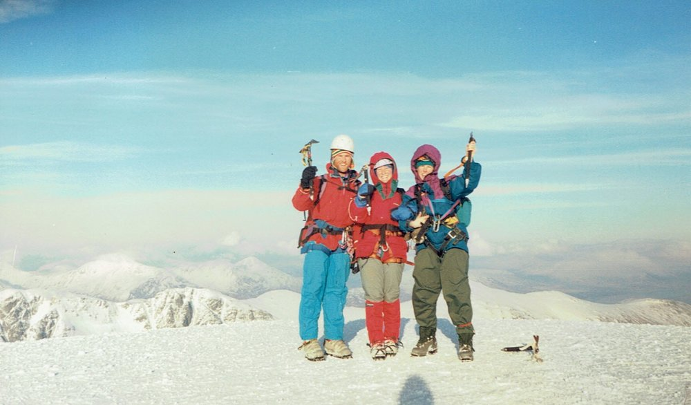 Chris & clients winter mountaineering in Scotland c.1995