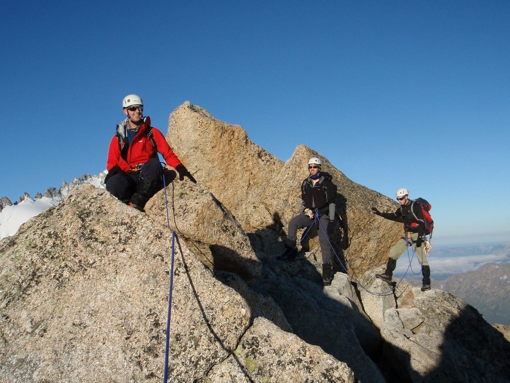 Near the summit of the aiguille du tour