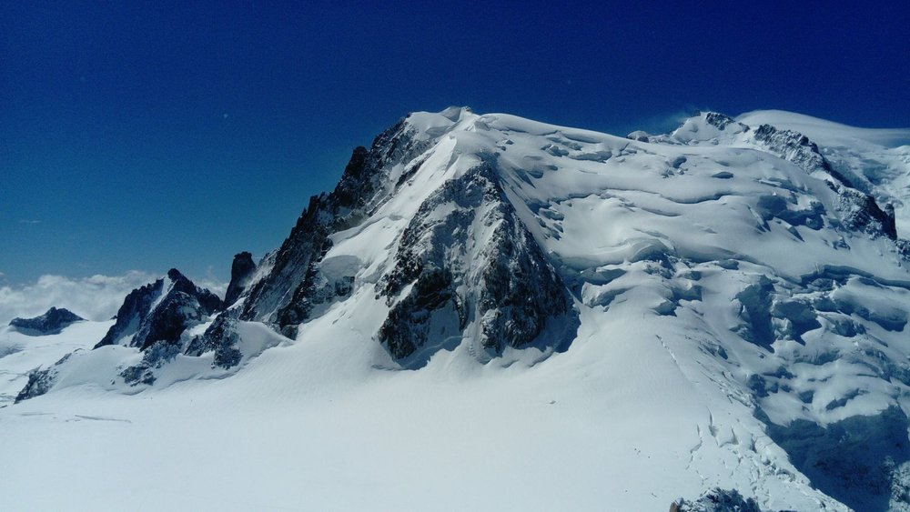 Mont Blanc du Tacul from the Cosmiques Arete