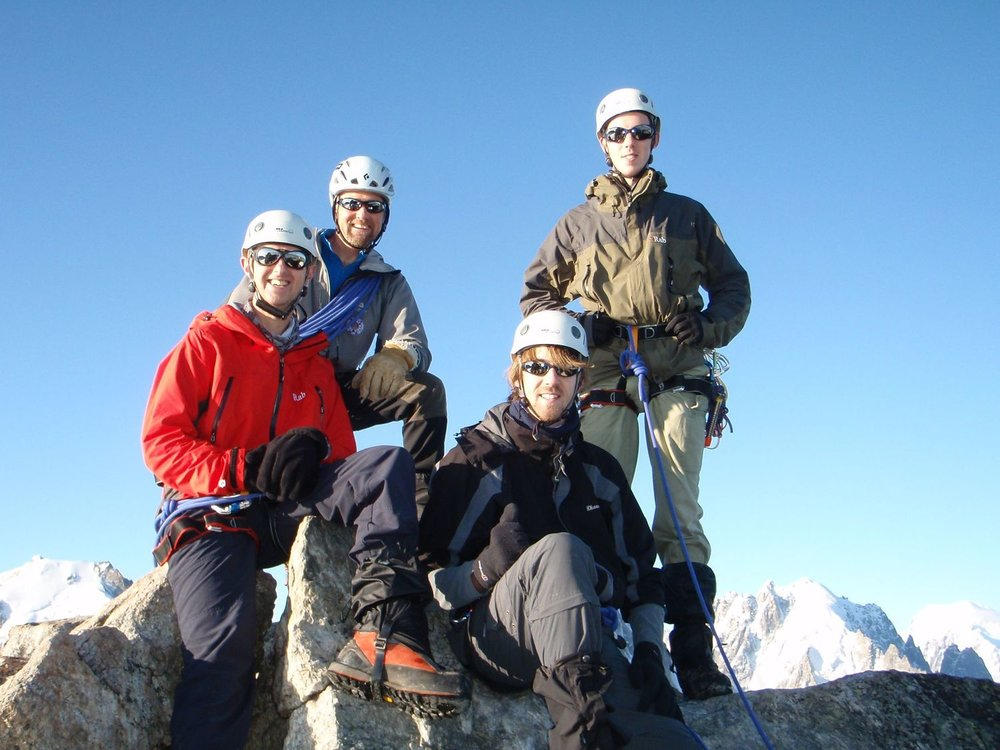 On the summit of the Aiguille du Tour