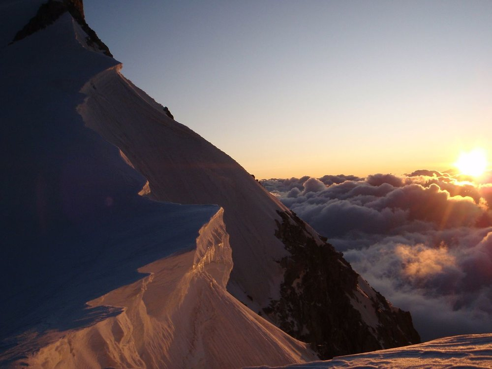 Dawn on the Col du Maudit