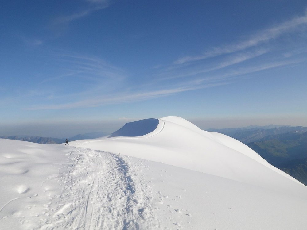Above the Gouter hut