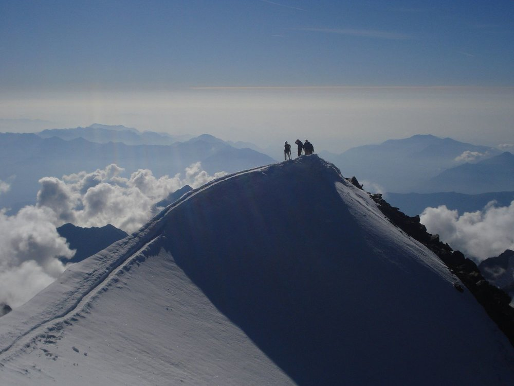 On the summit of the weismiess