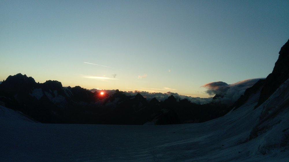 Dawn over the Trient plateau