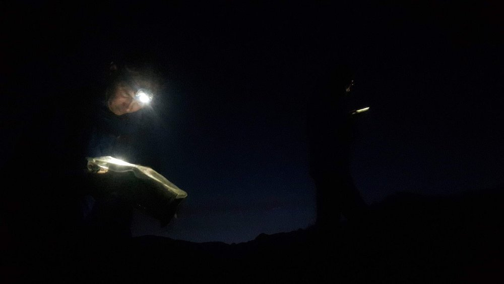 Night navigation on a Mountain Leader assessment course - Chris Ensoll Mountain Guide