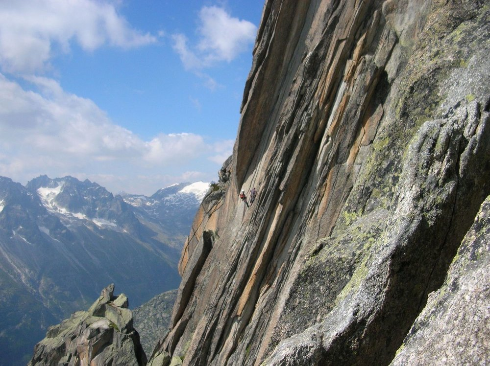 Rock climbing on the Salbitzen, Switzerland