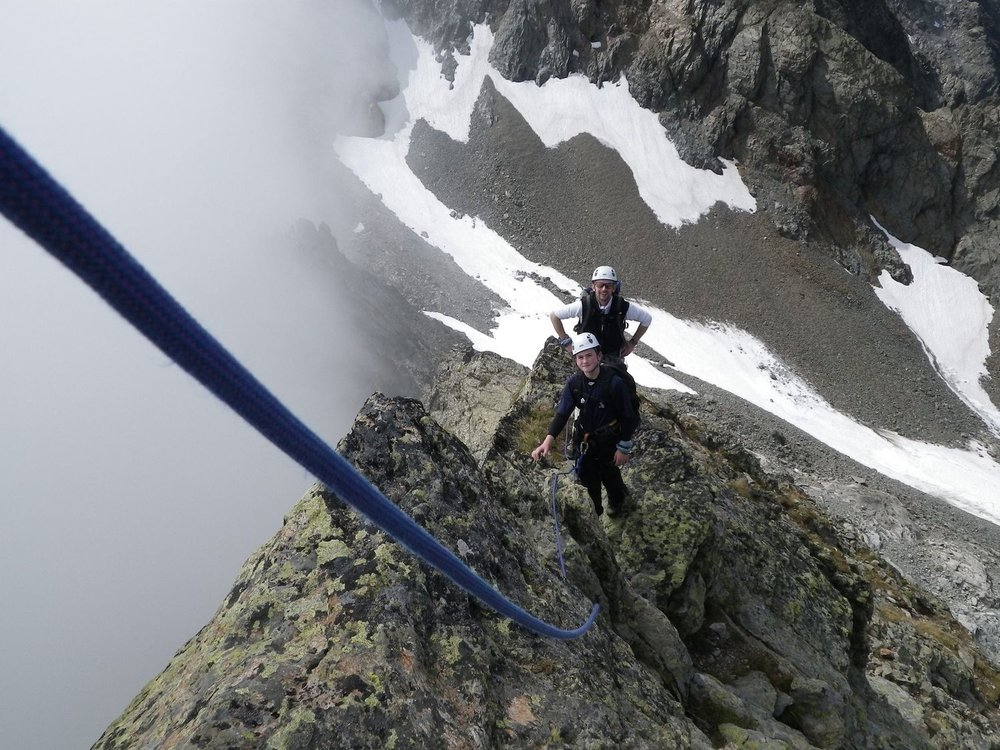On the Aiguille des Crochues, Chamonix