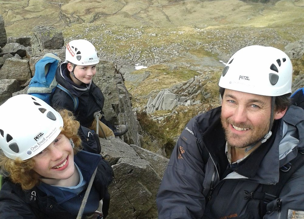 A group of clients on a classic Lakeland scramble - Chris Ensoll Mountain Guide