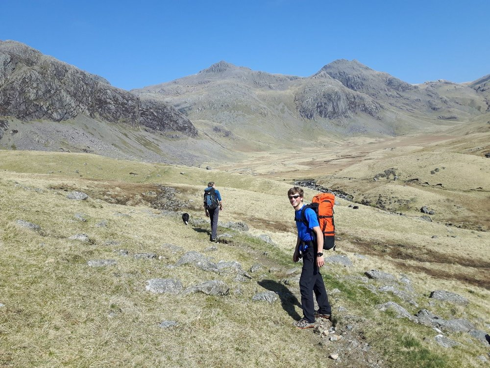 Classic Lakeland Mountains: Upper Eskdale with Esk Pike behind - Chris Ensoll Mountain Guide