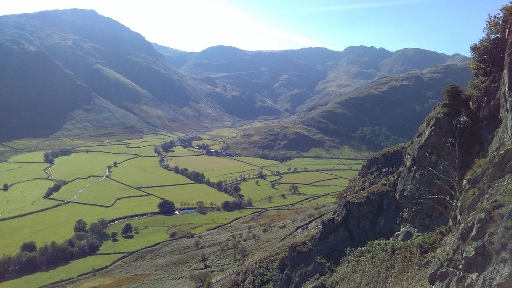 Langdale valley and Crinkle Crags