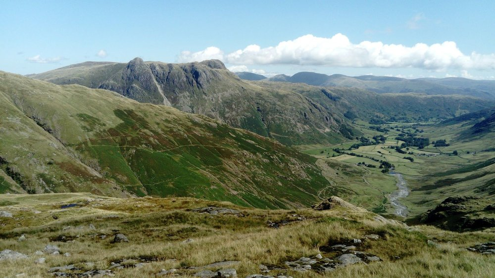 Langdale valley and the Langdale Pikes