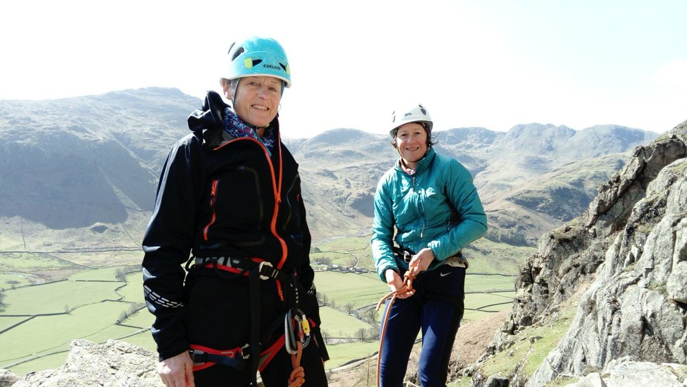 Clients preparing in the Lake District for their Alpine trip - Chris Ensoll Mountain Guide