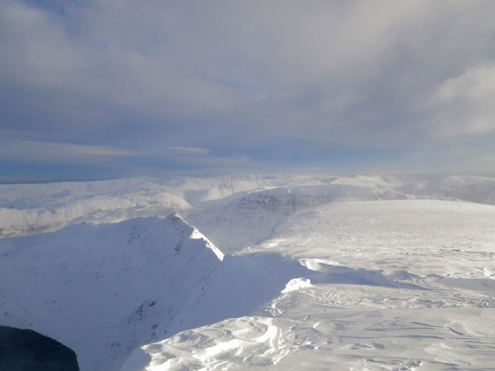 The Lake District mountains in winter - Chris Ensoll Mountain Guide