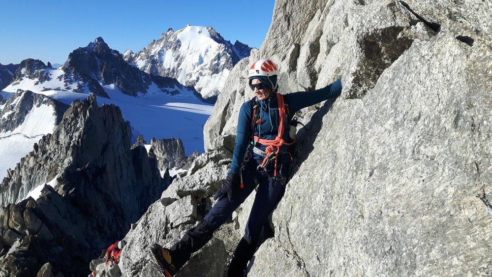 On the ascent of the Aiguille du Tour