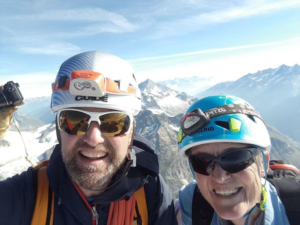 On the summit of the Matterhorn