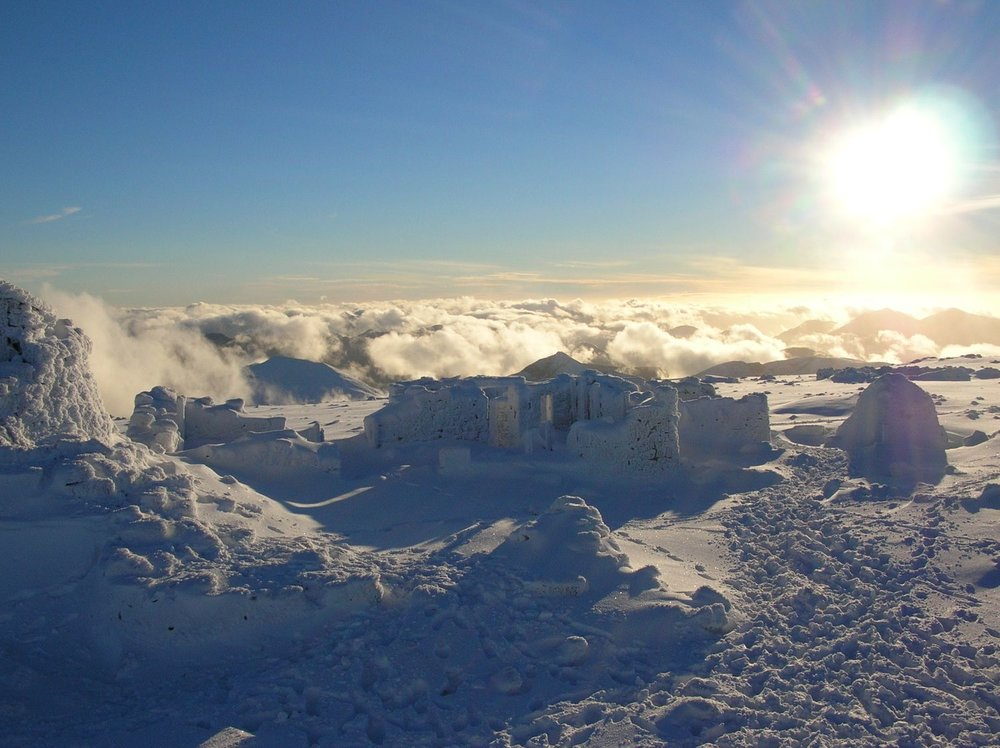 The observatory on the summit of Ben Nevis