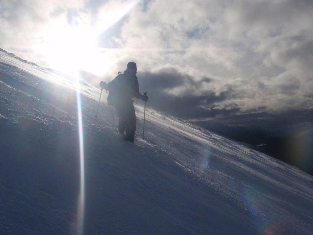 Descending Ben Nevis via Red Burn