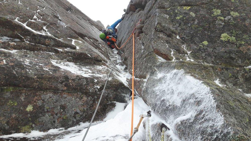December: winter climbing at Coire an t-Sneachda, Scotland