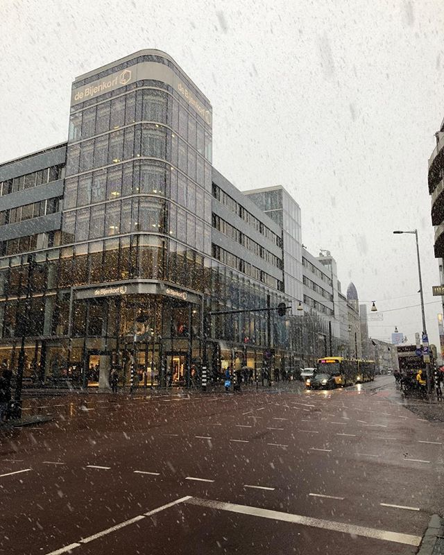 What a day! #snow #Utrecht