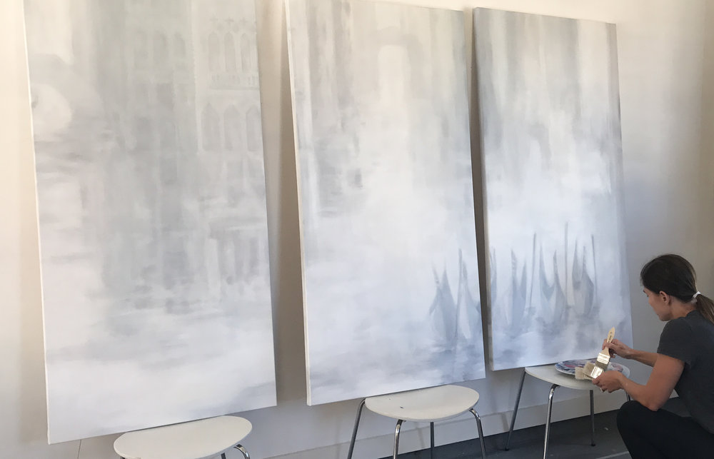 VENETIAN REFLECTION (commissioned triptych)