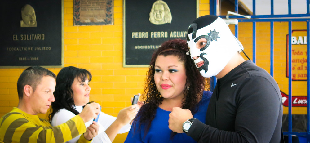 Little did we know it, but this young woman turned out to be most mental wrestling fan in Mexico.