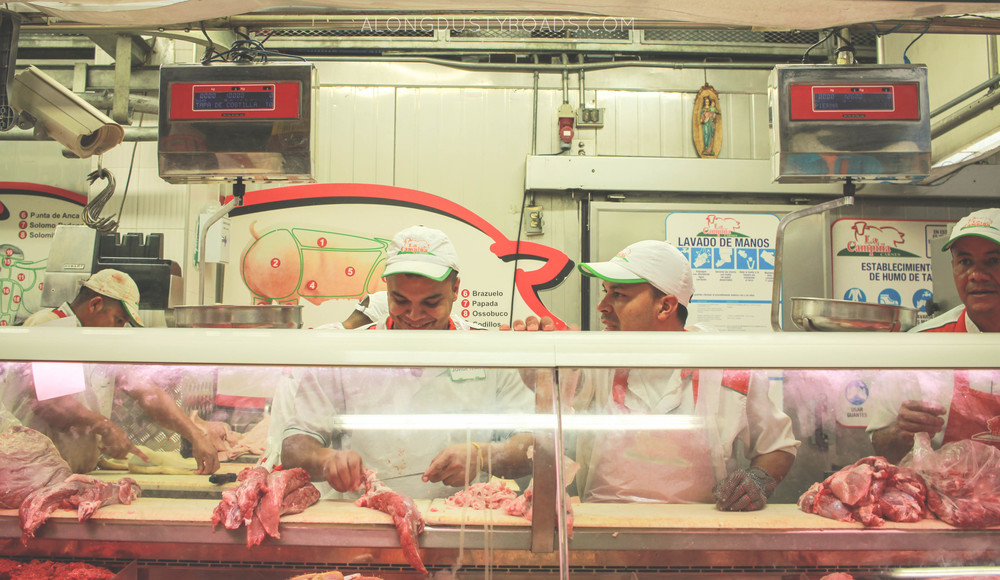 the butchers minorista market medellin