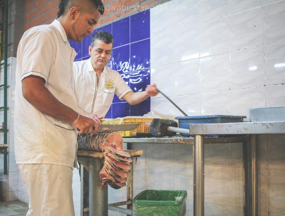 the fish men minorista market medellin