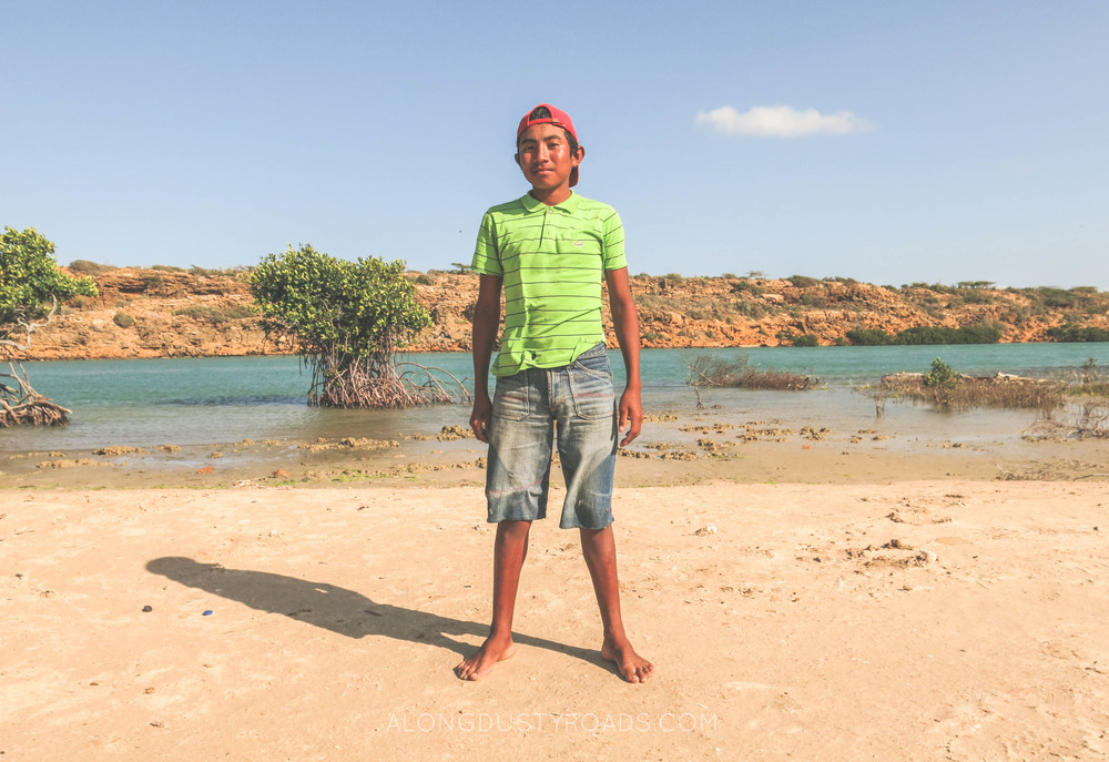 boy in puntas gallinas la guajira colombia
