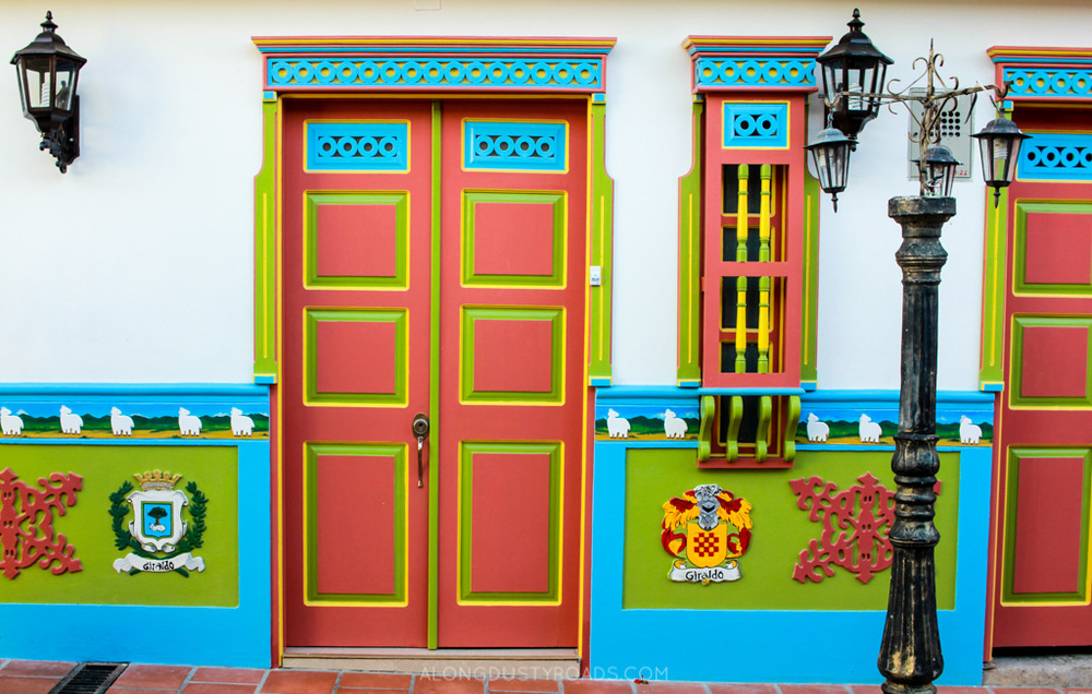colourful zocalos guatape colombia