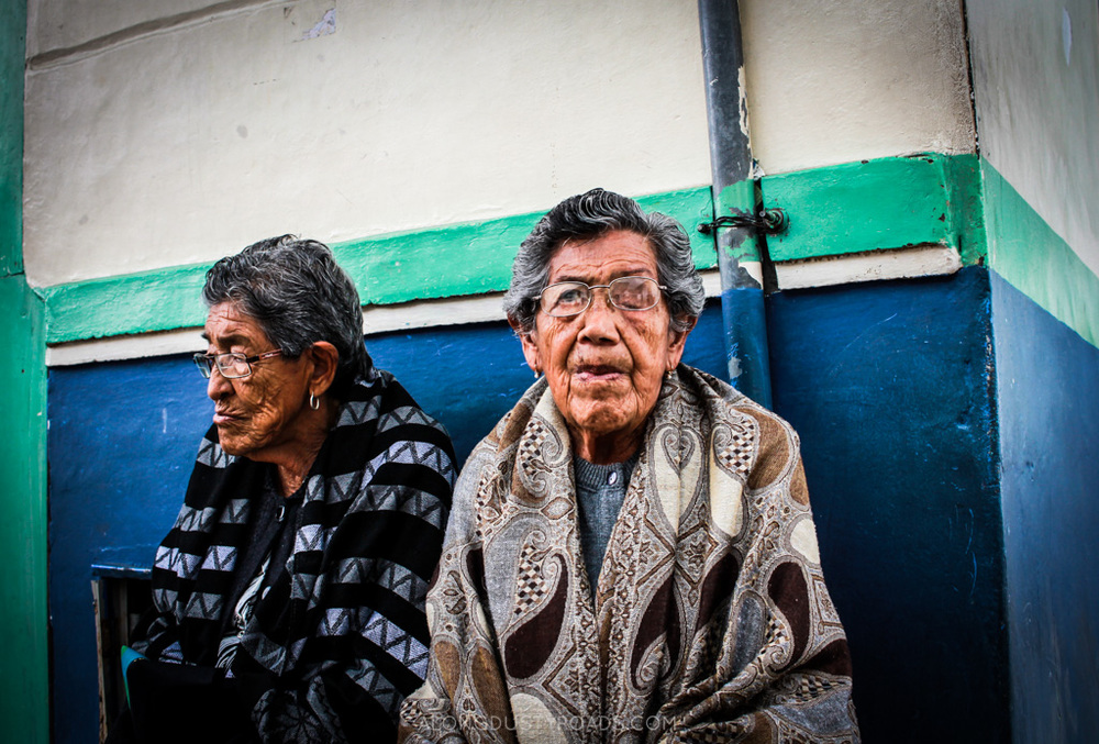 the ladies of salento, colombia - along dusty roads