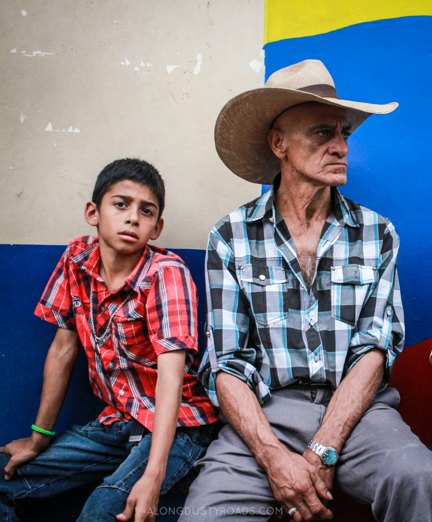 father and son jardin colombia