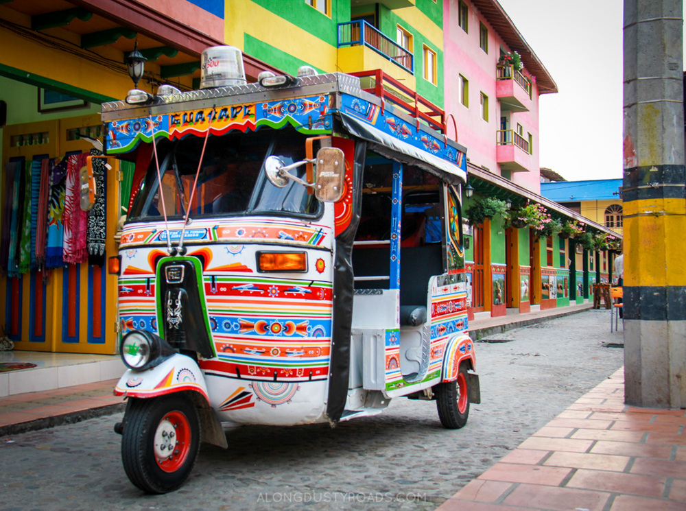 Things to do in Guatape Colombia - tuk tuk guatape colombia