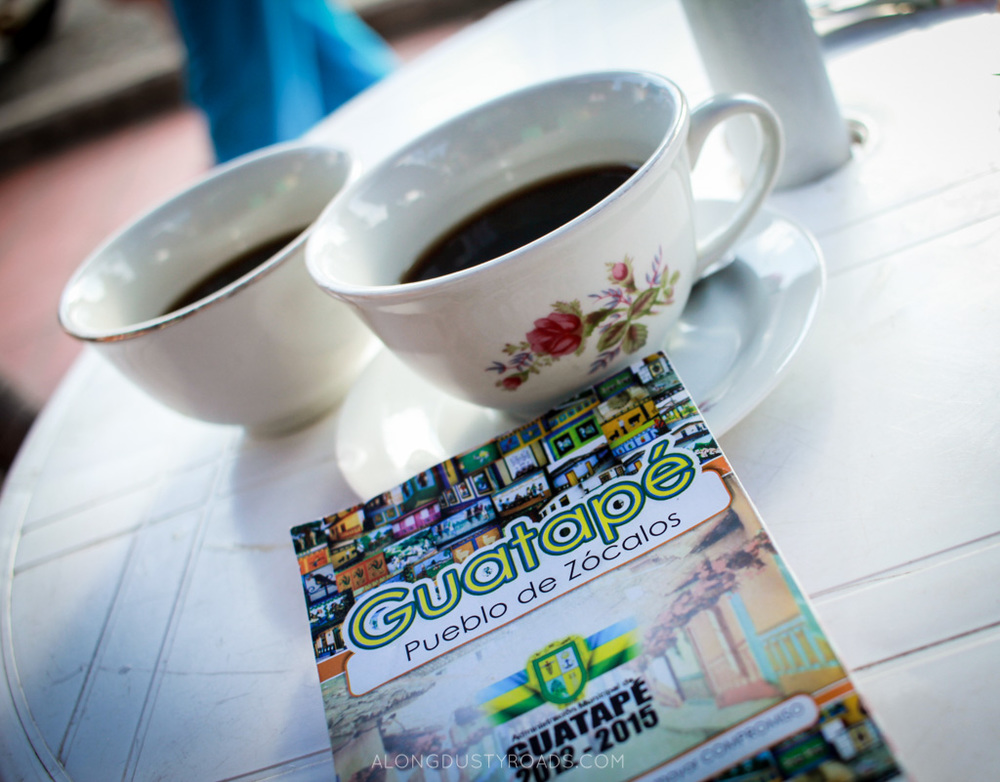 Things to do in Guatape Colombia - coffee cups guatape colombia