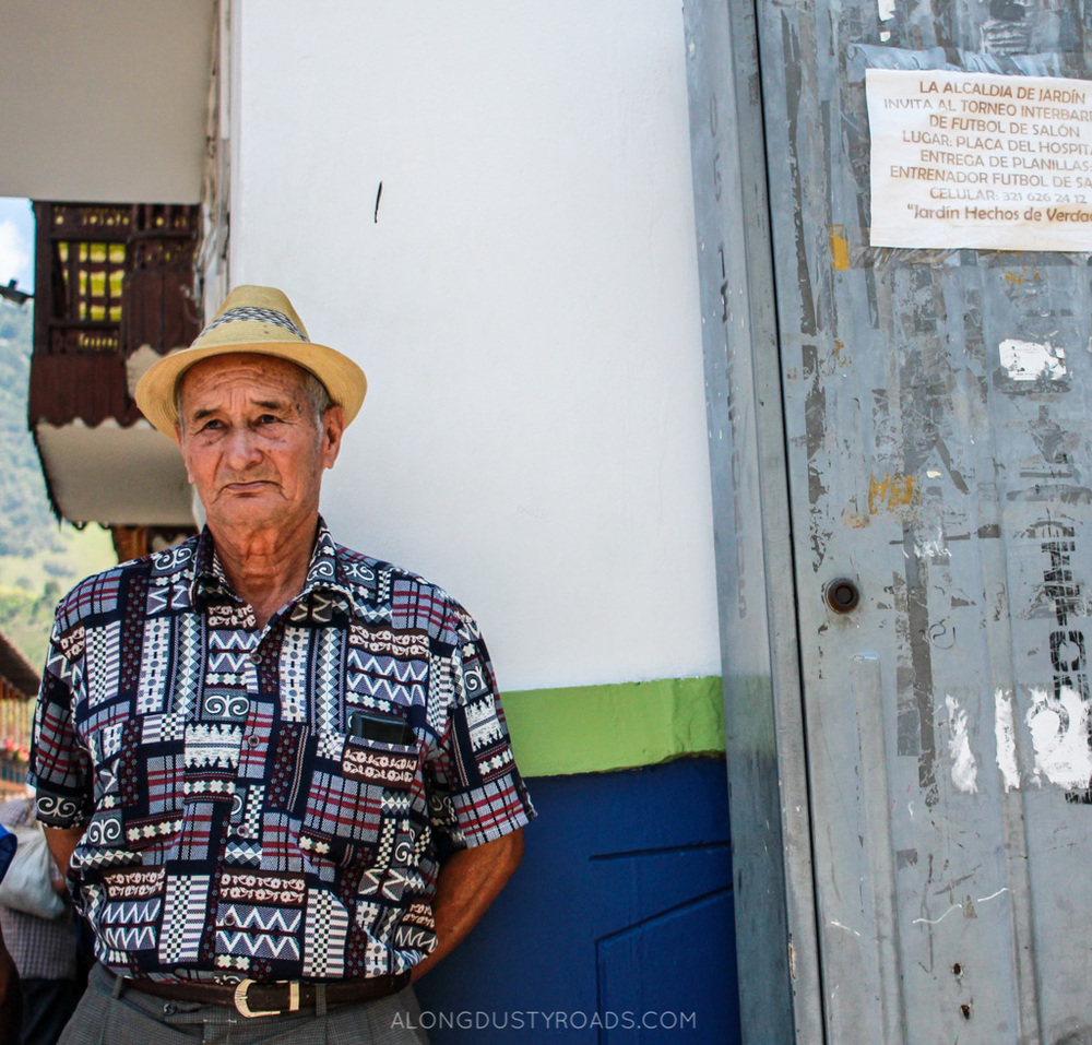 old man on the corner - jardin, colombia