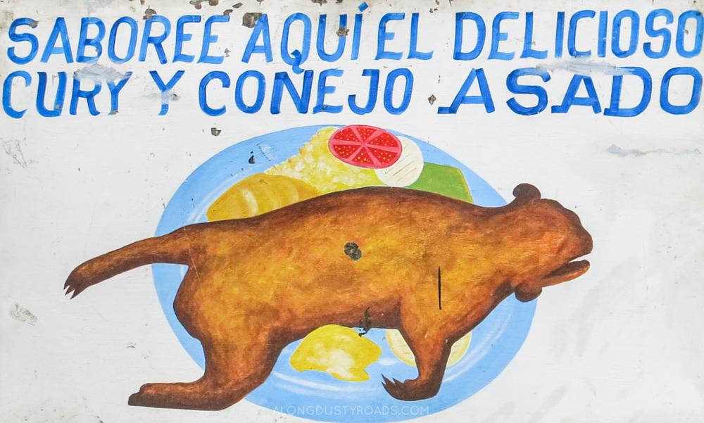 guinea pig restaurant san agustin colombia