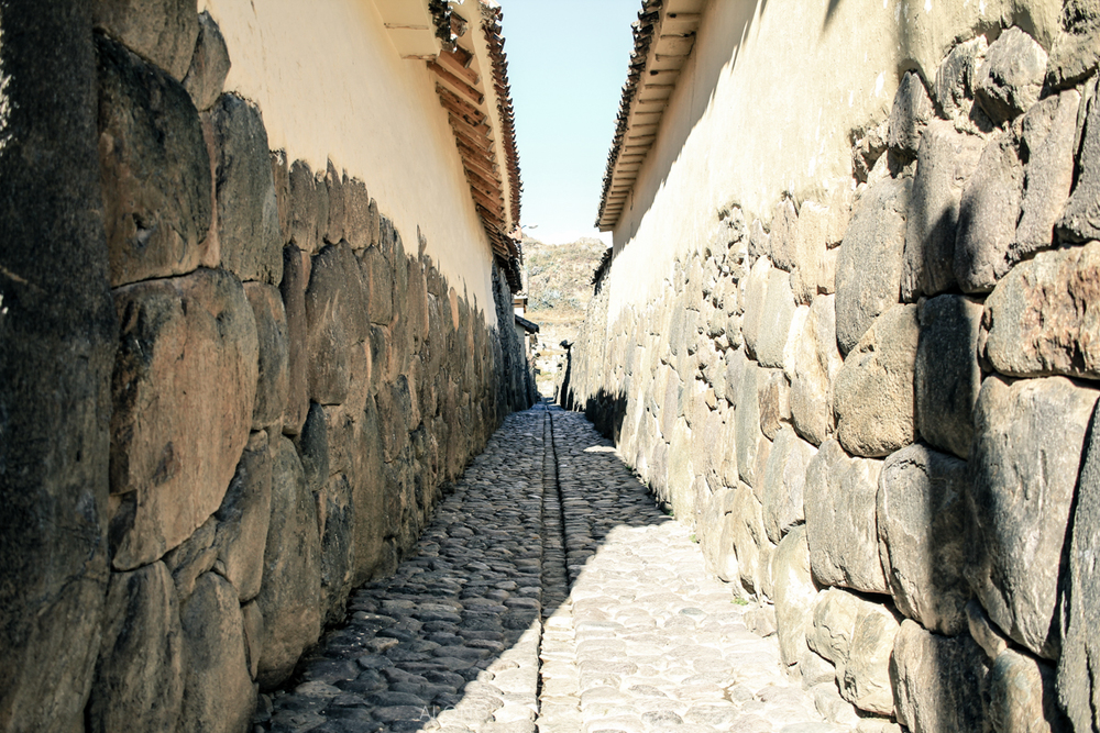 The streets of Ollantaytambo - Along Dusty Roads