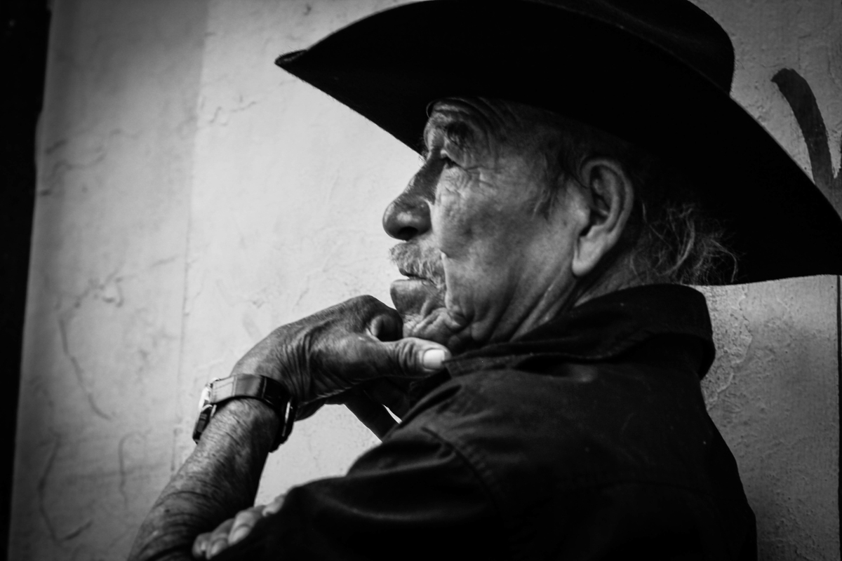 Photography faces of mexico along dusty roads
