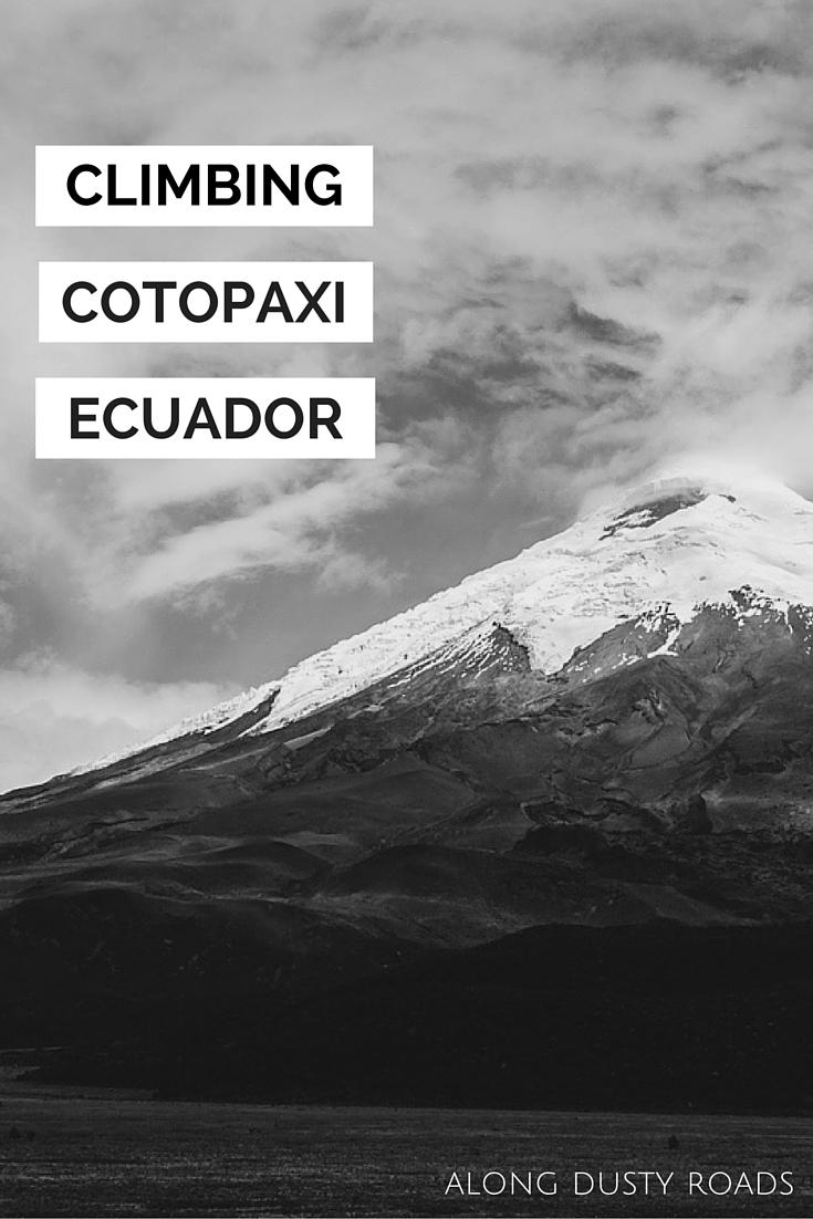 Climbing Cotopaxi.