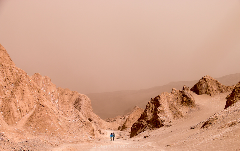 Caught in a sand storm - San Pedro de Atacama